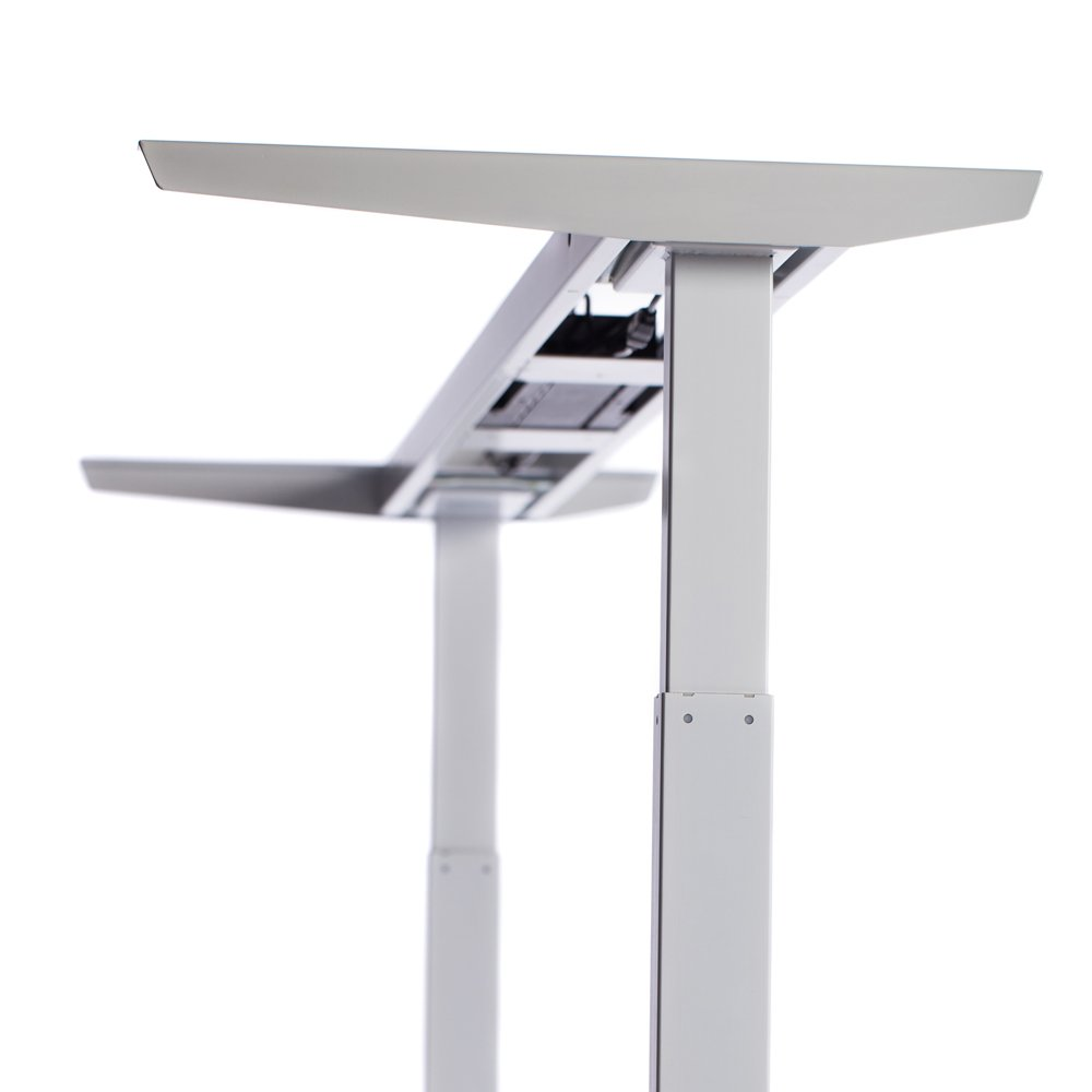 ApexDesk Elite Series 60'' W Electric Height Adjustable Standing Desk (Memory Controller, 60'' White Top, Off-White Frame) by ApexDesk (Image #2)