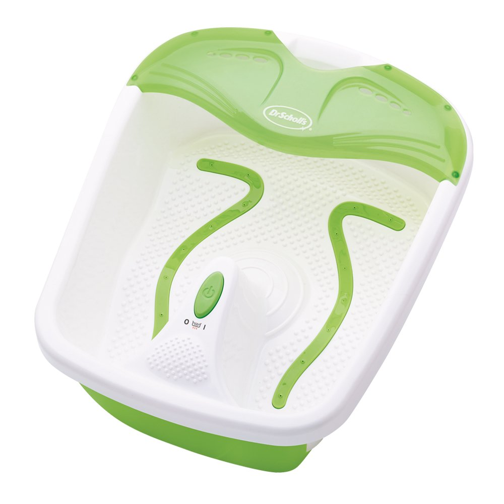 Dr. Scholl's DRFB7012B Bubbling Toe Touch Foot Spa, White/Green Helen of Troy