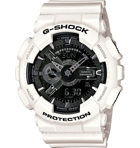 Casio G-Shock GA-110 Garish Trending Series Men's Luxury Watch - White / One Size (Best Price G Shock Watches)