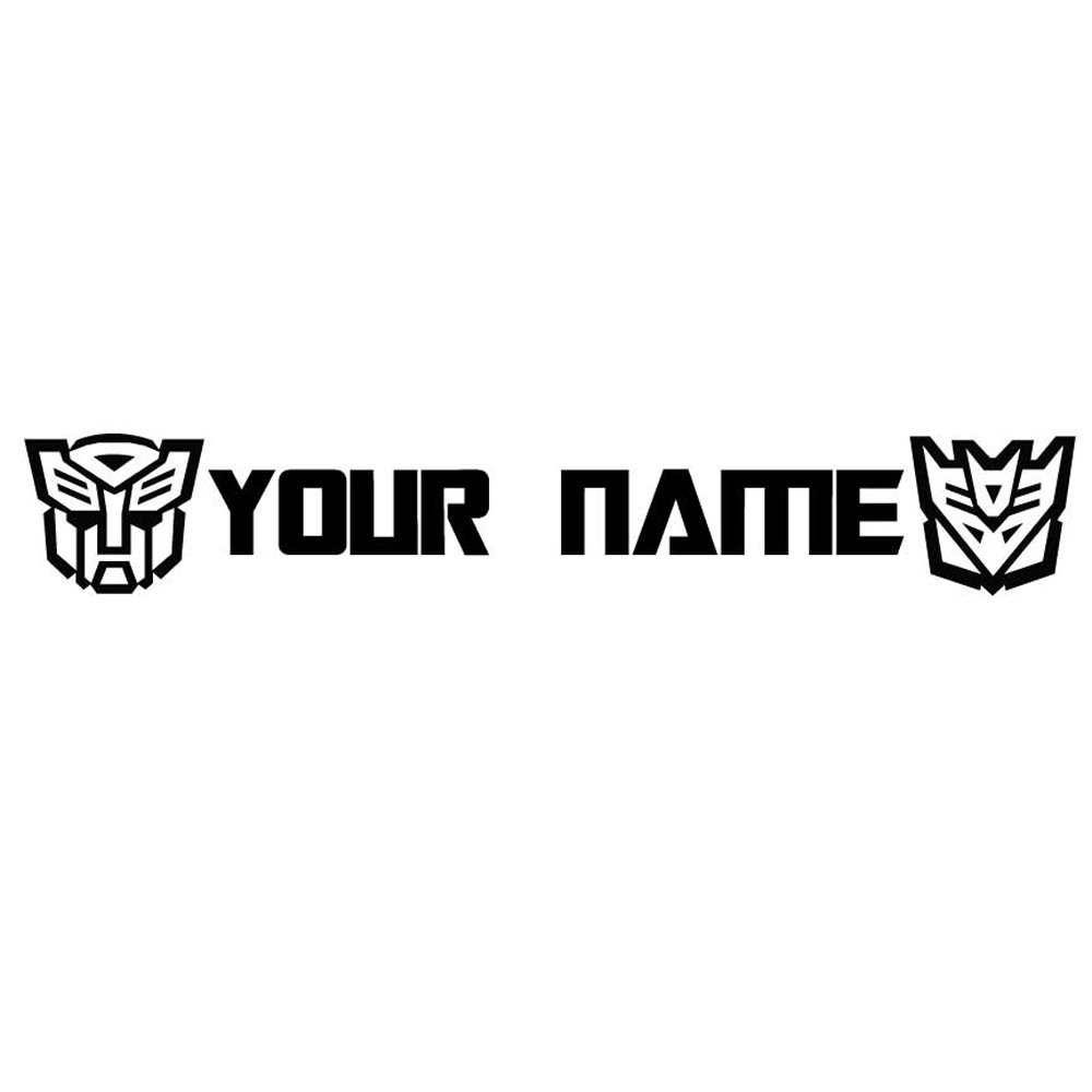 Custom Transformers Vinyl Decal Sticker with Your Name (143x22 inch, Matte Black)