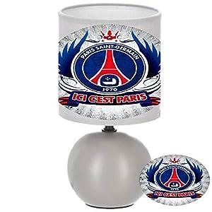 PRESENT Lampe de chevet FOOT PSG PARIS ST GERMAIN création artisanale découpe et collage manuel[Classe énergétique A… 5