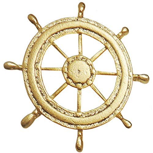 GIRLPROPS Vintage 1 X 1, Jonette Jewelry (Unsigned) Ships' Wheel Tack Pin, Ships' Wheel in Gold Tone