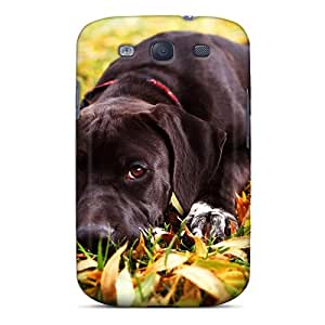 GMcases Case Cover For Galaxy S3 - Retailer Packaging Animal Dog And Leaves Backgrounds Protective Case