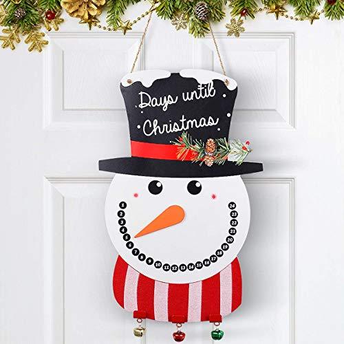 Unomor Snowman Christmas Door Decorations, Christmas Decorations - 17x11'' (Down To Christmas Count)