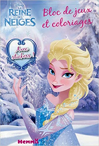 Livre Coloriage Reine Des Neiges.Amazon Fr Disney La Reine Des Neiges Bloc De Jeux Et