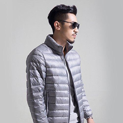 Hgfjn männer sind dünner Baumwolle männlichen wintermantel XL männer matelkragen,Silber - grau,m