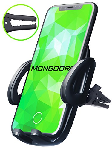 Car Mount – Air Vent Car Holder – Car Phone Mount for iPhone X 8 7 6 5 plus and any Android Cell Phone – Phone Holder for Car – Universal Vent Mount for Men and Women – Air Vent Holder (Black)