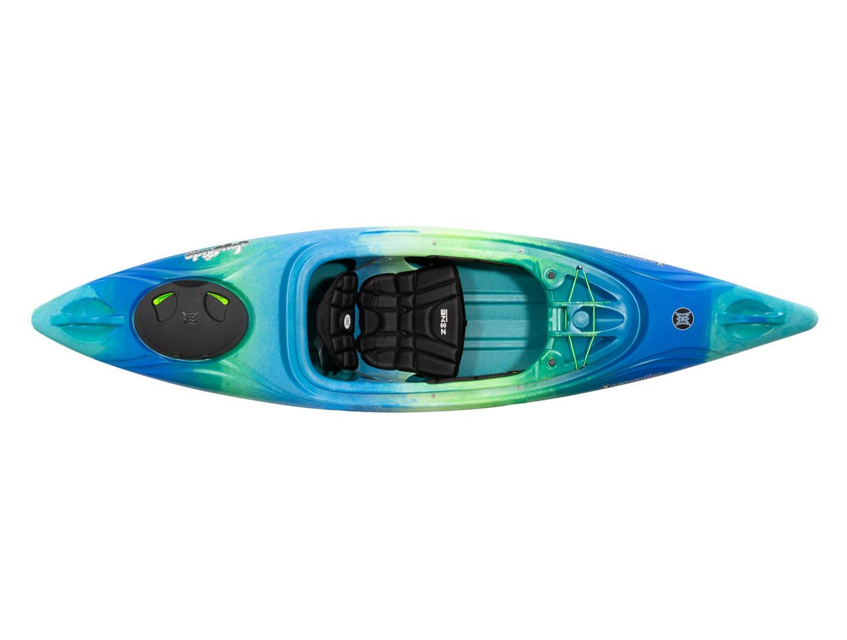 Perception Joyride 10 | Sit Inside Kayak for Adults and Kids | Recreational and Multi-Water Kayak with Selfie Slot | 10' | Déjà vu by Perception Kayaks