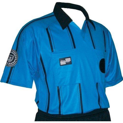 - USSF Economy Raglan Short Sleeve Stripe Shirt Blue (Adult XL)