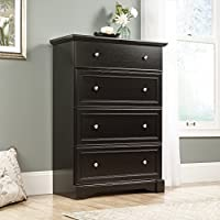 Sauder 420780 Bleeker Street 4-Drawer Chest, Obsidian Oak