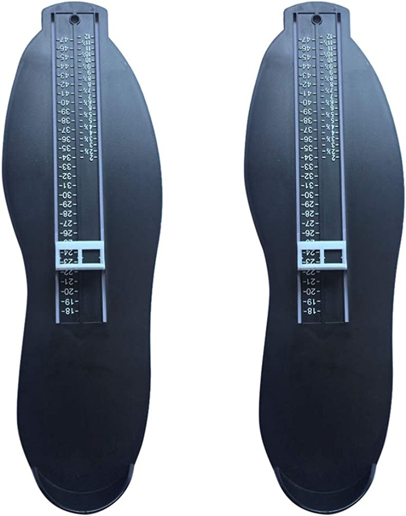 Happyyami Foot Measuring Device for Adult Shoe Size Buying Shoes Online Tools Foot Measurement Gauge 2pcs