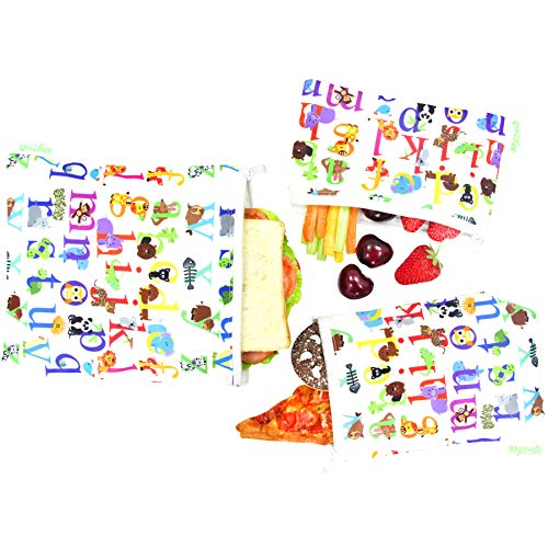 - Wegreeco Reusable Snack Bags, (Set of 3) - Animal Alphabet