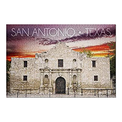 San Antonio, Texas - Purple Sky Sunset at The Alamo (Premium 500 Piece Jigsaw Puzzle for Adults, 13x19, Made in USA!): Toys & Games