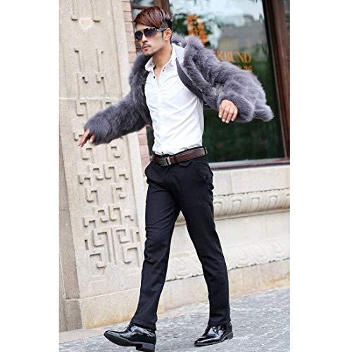 Comode Da Sintetica Uomo Abiti Soffietto Con Capispalla Hx Fashion 1 Taglie Pelliccia Grau Tasche Lungo Laterali Invernale Giacca In Cappotto qnCw8I
