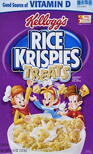 Krispies Cereal - Kellogg's, Rice Krispies Treats Cereal, 11.6oz Box (Pack of 4)