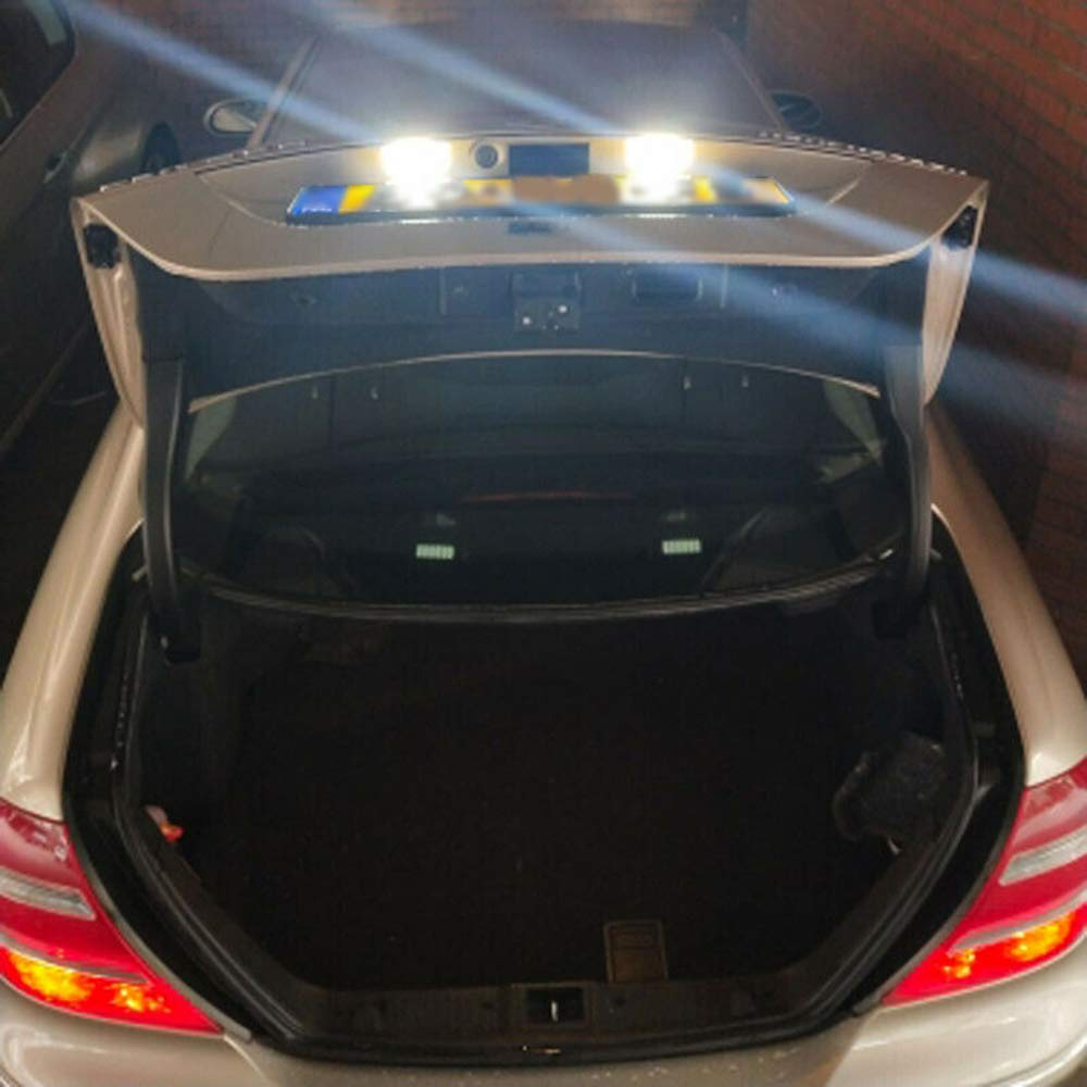 L/ámpara de placa de licencia LED de 2 piezas para Mercedes Benz W204 W212 W216 W207 W221