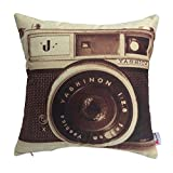 Monkeysell Pillow Cover Linen Throw Pillow Case Square Pillowcase for Sofa