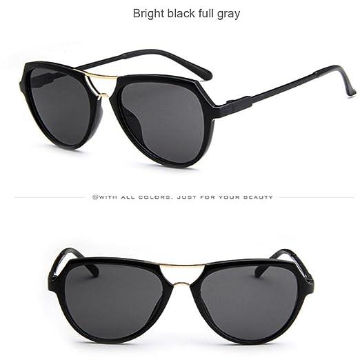 GTUKO-Gafas de sol Occhiali Da Sole Colorati Marea Selvatici Personalità Nuova Moda Retrò Occhiali Da Sole, 017