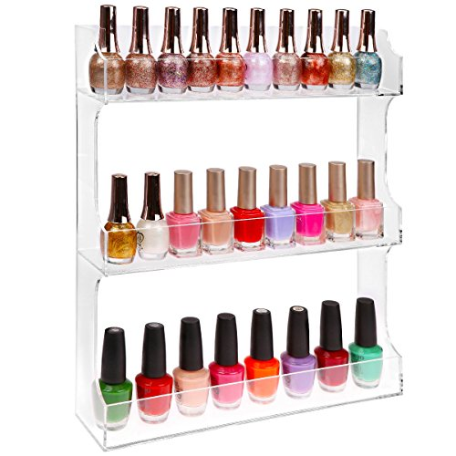Clear Acrylic Polish Organizer Kitchen