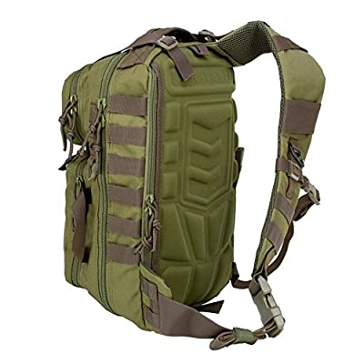 3V Gear Outlaw II Tactical Gear Slinger Backpack, Over Shoulder Day Pack/Survival Sling Bag with Molle & Hydration Compatibility Outdoor, Survival, Get Home Bag, Bug Out Bag, Military Backpack