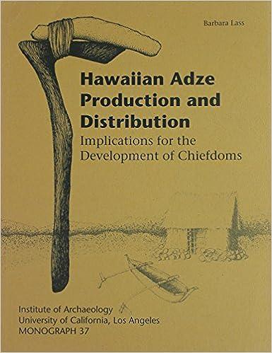 hawaiian adze. hawaiian adze production and distribution: implications for the development of chiefdoms (monographs): barbara lass: 9780917956812: amazon.com: books