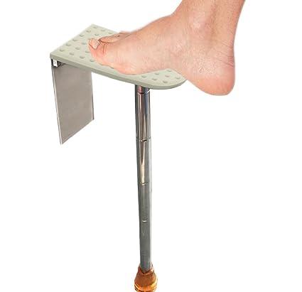 FOLAI Shower Foot Rest Shower Shaving Stand Shower Step Portable Adjustable  Bathroom Shower Footrest Shaving Step