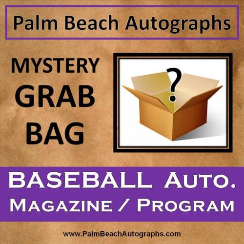 (MYSTERY GRAB BAG - Autographed Baseball Magazine/Program)