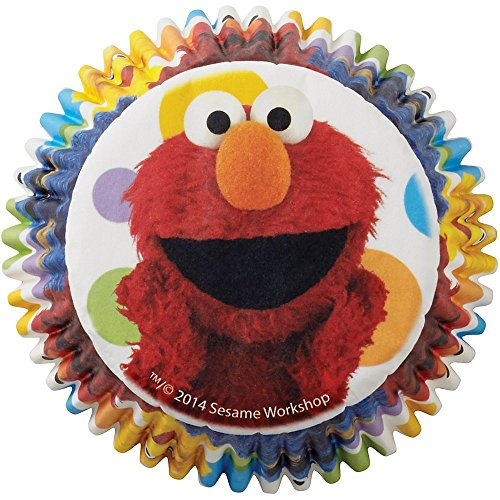 Wilton Sesame Street Licensed Baking Cups, Pack of 50 - Elmo Baking Cups