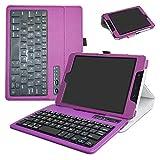 """ZenPad Z8s ZT582KL / Z8 ZT582KL-VZ1 Bluetooth Keyboard Case,Mama Mouth Slim Stand PU Leather Cover With Romovable Bluetooth Keyboard For 7.9"""" Asus ZenPad Z8s ZT582KL / Z8 ZT582KL-VZ1 Tablet,Purple"""