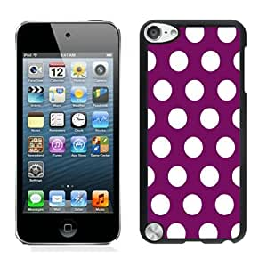 Hard Shell Cover Polka Dot Purple and White Speck Ipod Touch 5 Case Black for Girls Diy Spot Ipod 5th Generations Cases for Boys