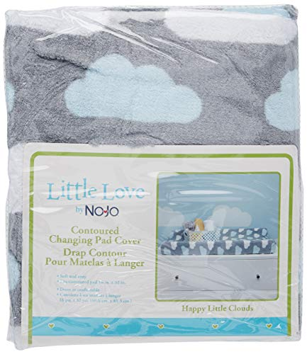 Little Love by NoJo Changing Table Cover, Happy Little Clouds