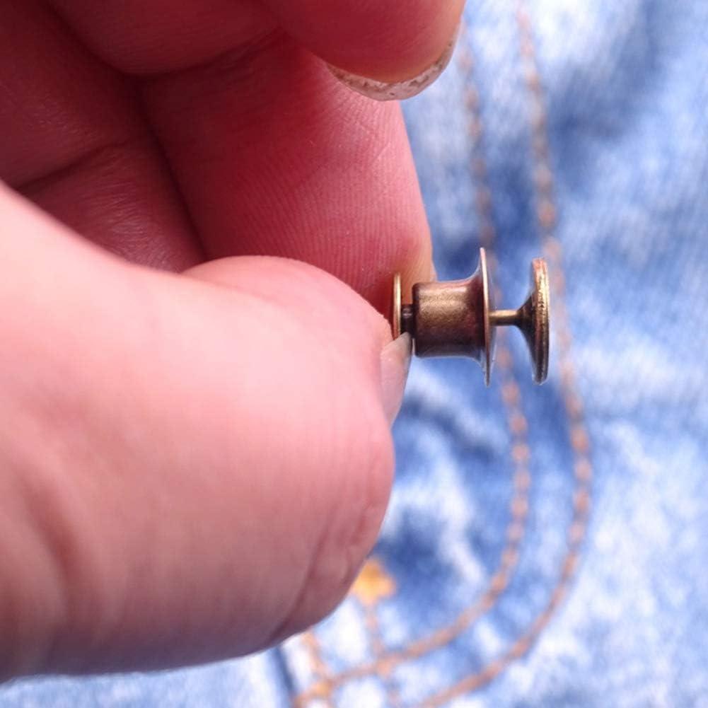 extensibles de metal ZSooner dorado para pantalones Juego de 20 extensiones de hebilla de cintura con gancho herramientas de costura reutilizables