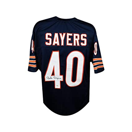 Gale Sayers Autographed Chicago Bears Custom Navy Football Jersey ... 39f214df6