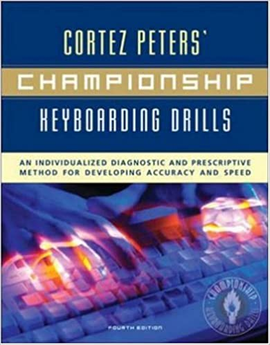 Cortez peters championship keyboarding drills an individualized cortez peters championship keyboarding drills an individualized diagnostic and prescriptive method for developing accuracy and speed cortez peters fandeluxe Gallery