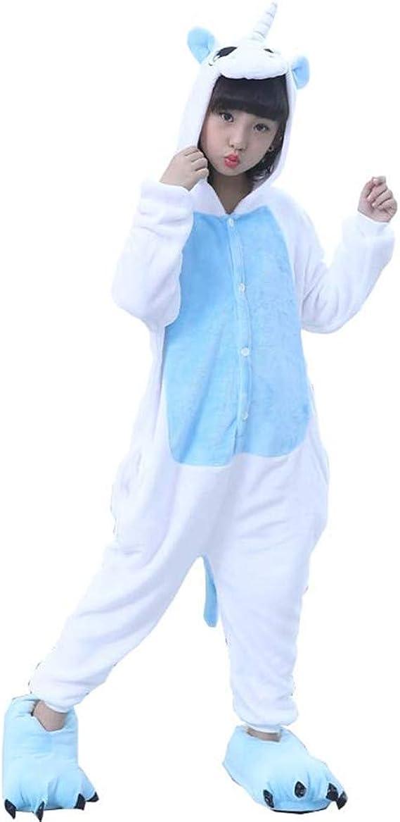 Licy Life-UK Unisex Niños Niñas Pijamas Unicornio Onesies Cosplay Traje Disfraz Cartoon Animal Pyjamas Ropa de Dormir Halloween y Navidad