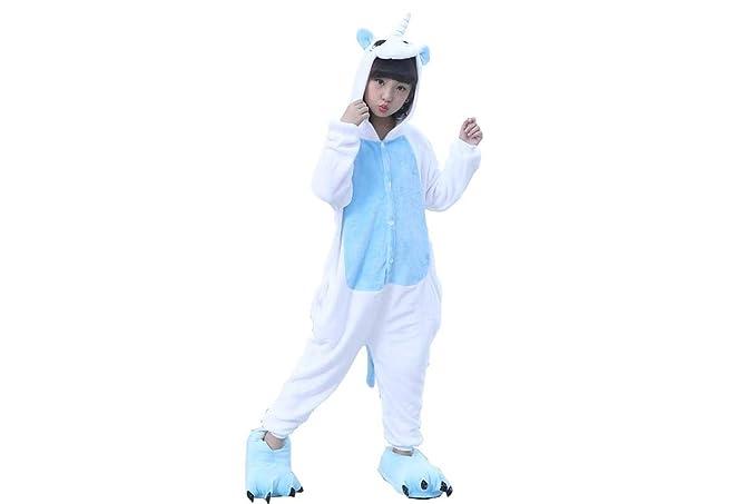 Lovelysi Unisex Niños Ropa de Dormir Niñas Pijamas Unicornio Onesies Cosplay Traje Disfraz Cartoon Animal Pyjamas