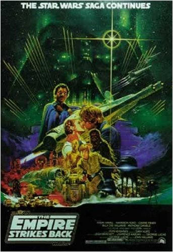Japanese Movie Poster - Star Wars: Episode V - The Empire Strikes Back - Movie Poster: Japanese (Size: 27'' x 39'')