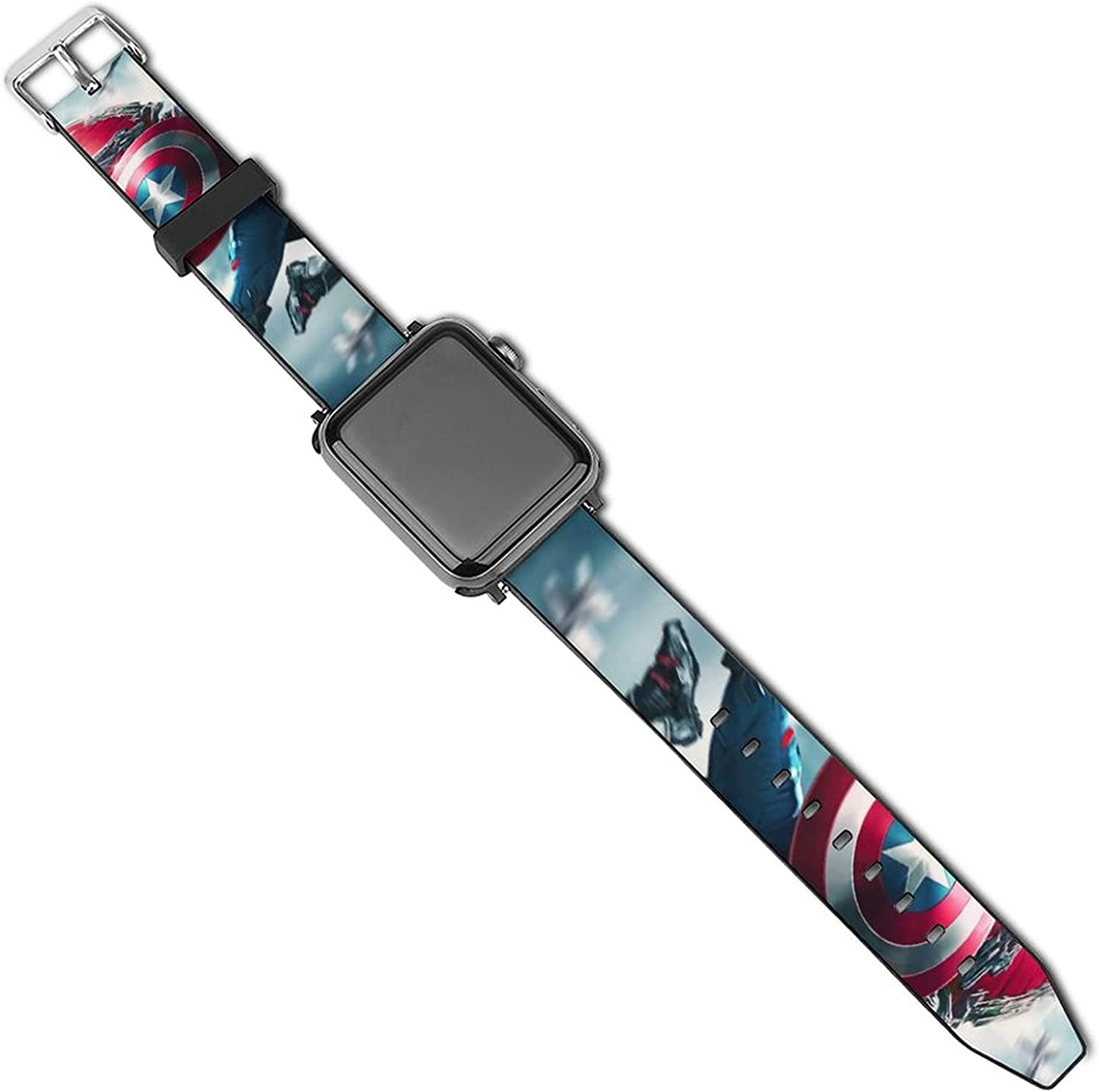 Falcon Captain America Apple Watch Diamond Protector Case Compatible with iWatch 38mm 40mm 42mm 44mm Bling PC Protective Case Bumper with Compatible with iWatch Series 6 / SE / 5 / 4/3/2/1