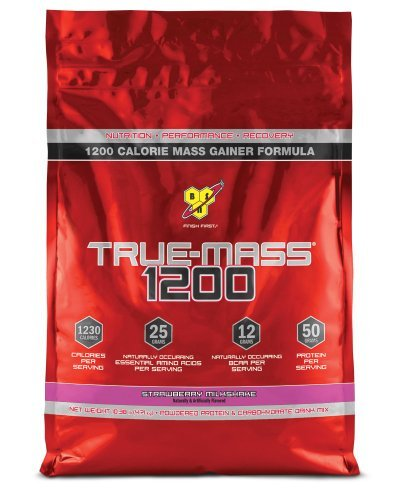 TRUE-MASS 1200, Strawberry Milkshake, 10.38 Pound by BSN Sports B01N0XY2V4