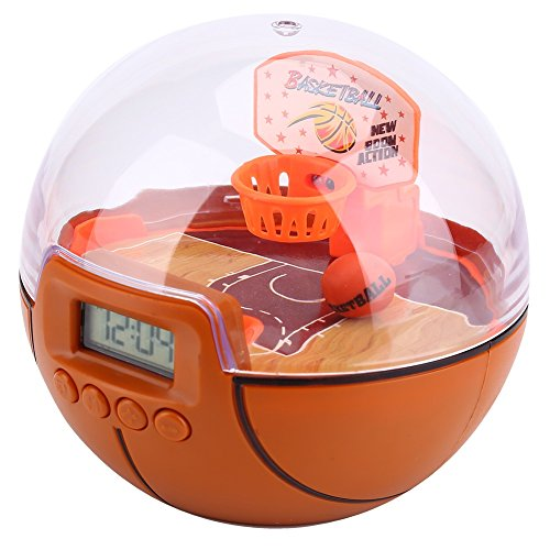 Mini Basketball Games,Handheld Basketball Shooting Games Alarm Clock,Hoops Rocking Game Music toy for Kids Adult ()