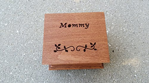 Custom made music box with Mommy engraved on top along with som vines, handmade music box, gift for mom, mother of the bride, mother of groom, mother's day gift, simplycoolgifts