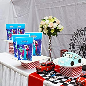 70 Packs Frozen Princess Party Gift Bags, Birthday Decoration Gift Bags Frozen Princess Gift Bags Party Supplies for Kids Frozen Princess Themed Party