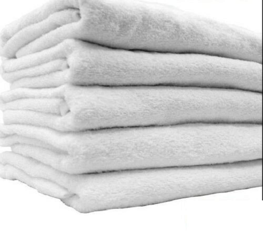 36 New White Hair Bath Salon Gym Workout Towels 22x44 100% Cotton Wholesale