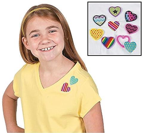 Heart Shaped Shirt Clips (4 dozen per unit) 1 1/2 - Shaped Unit