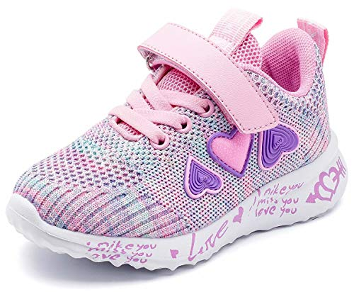 GUBARUN Girls Running Shoes Athletic Tennis Shoes for Kids Lightweight-11 M Pink