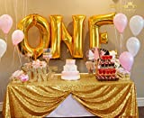 ShinyBeauty 60inx102in Sequin Tablecloth For Wedding/Party- Gold (Gold #70)