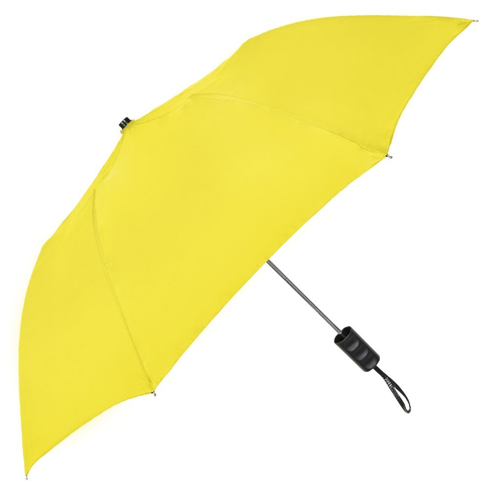 StrombergBrand''The Spectrum'' Popular Compact Umbrella; Automatic Opening, Portable, Lightweight Umbrella; Easy Carrying Folding Umbrella for men and women, Yellow