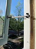 Pair Of Stainless Steel Storm Window Stays In Oil-Rubbed Bronze Finish. Storm Window Hardware.