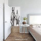 Freedom Drum Side Table AmorFash Jazz-Music Printed Noren Curtain Tapestry Long Type/Short Type,Cotton Llinen,Illustration of a Jazz Band Musicians Playing Drum Music Concert Performance