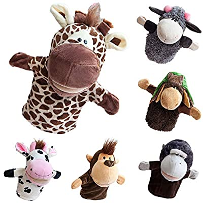 shlutesoy Cute Animal Hand Puppet Mouth Opener Plush Toy Girl Heart Doll Cuddle Pillow Doll: Toys & Games